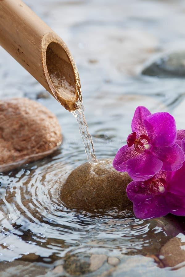 Πηγή νερού για το ντεκόρ zen στοκ φωτογραφία
