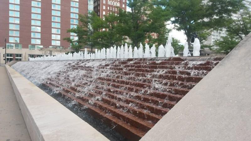 Πηγή νερού πόλεων του Κάνσας στοκ φωτογραφία με δικαίωμα ελεύθερης χρήσης