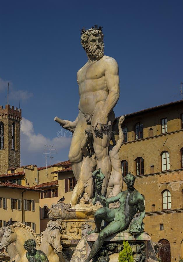 Πηγή Ποσειδώνα στη Φλωρεντία Accademia στοκ εικόνα με δικαίωμα ελεύθερης χρήσης