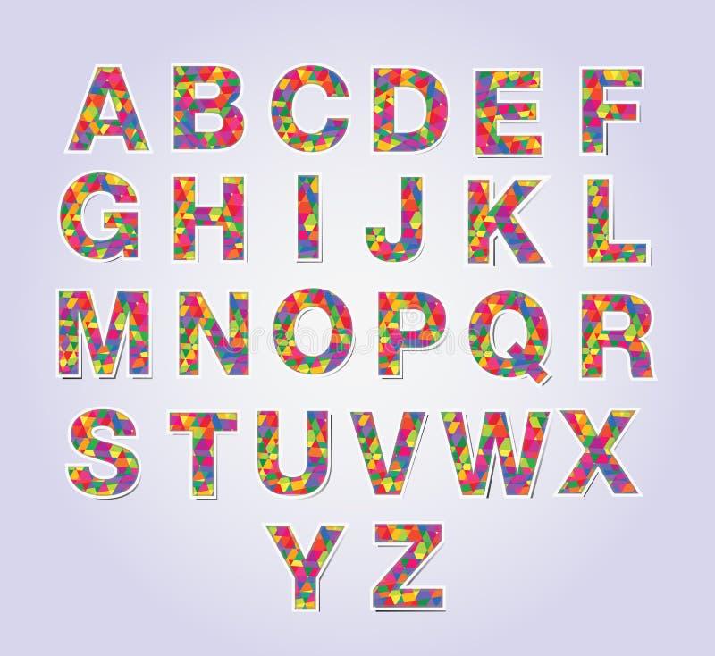 Πηγή πολυγώνων Multicolors ελεύθερη απεικόνιση δικαιώματος