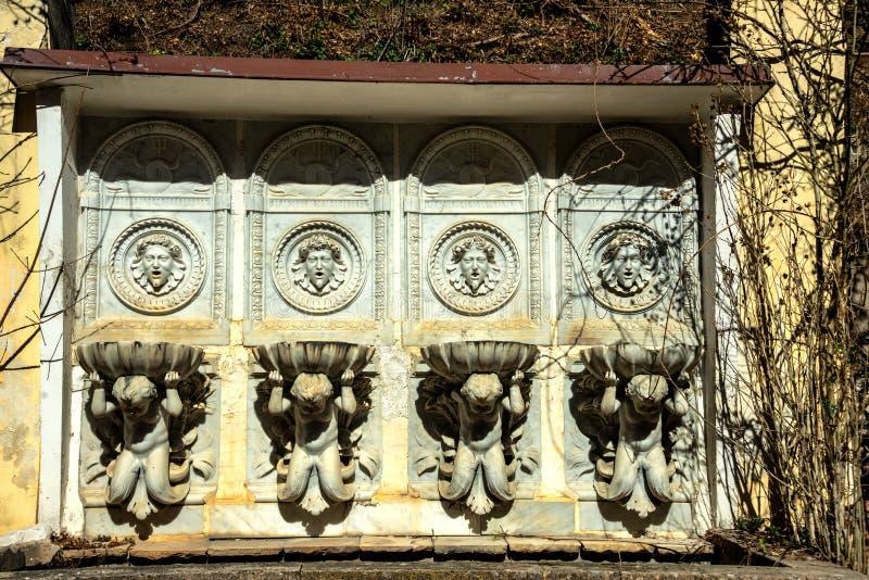 Πηγή στη Sisi Castle σε Reichenau στοκ φωτογραφία με δικαίωμα ελεύθερης χρήσης