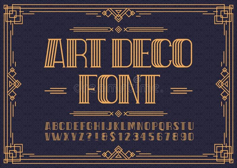 Πηγή του Art Deco απεικόνιση αποθεμάτων