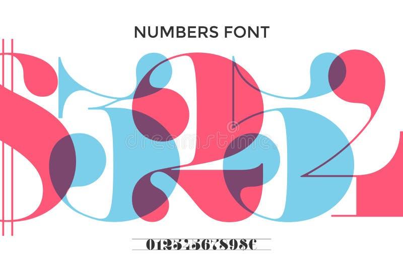 Πηγή των αριθμών στο κλασσικό γαλλικό didot ελεύθερη απεικόνιση δικαιώματος