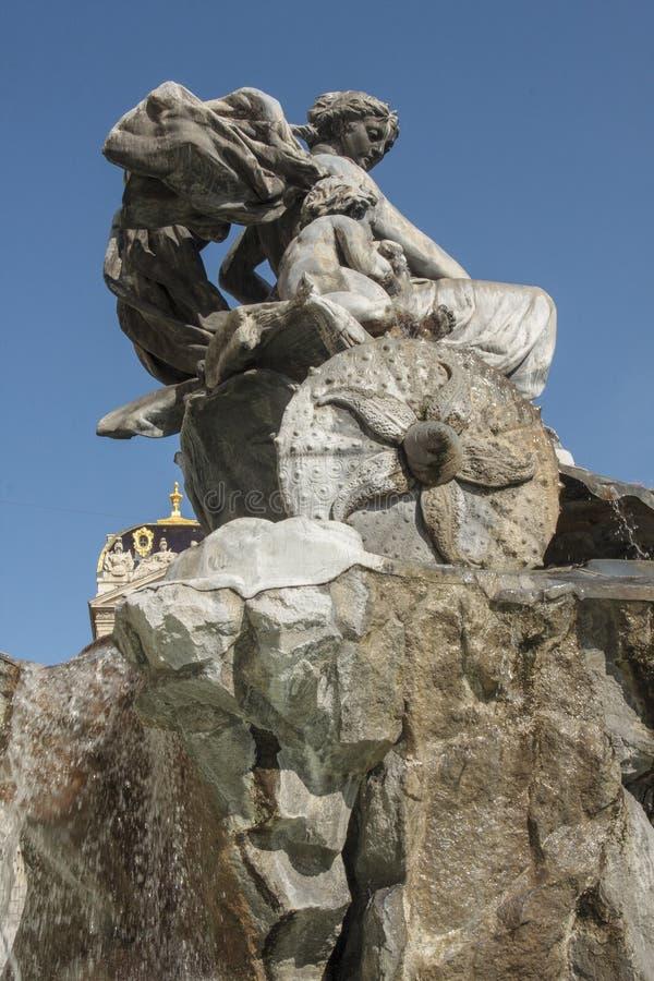 Πηγή Bartholdi στη Λυών Γαλλία στοκ φωτογραφίες με δικαίωμα ελεύθερης χρήσης