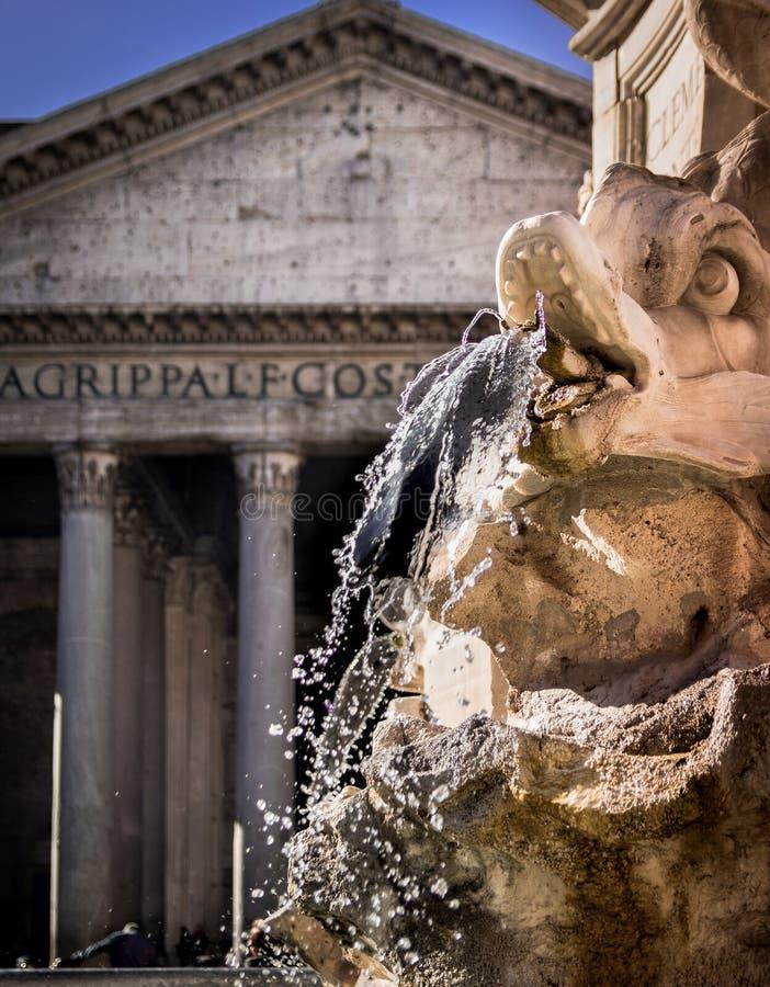 Πηγή Pantheon στοκ εικόνες