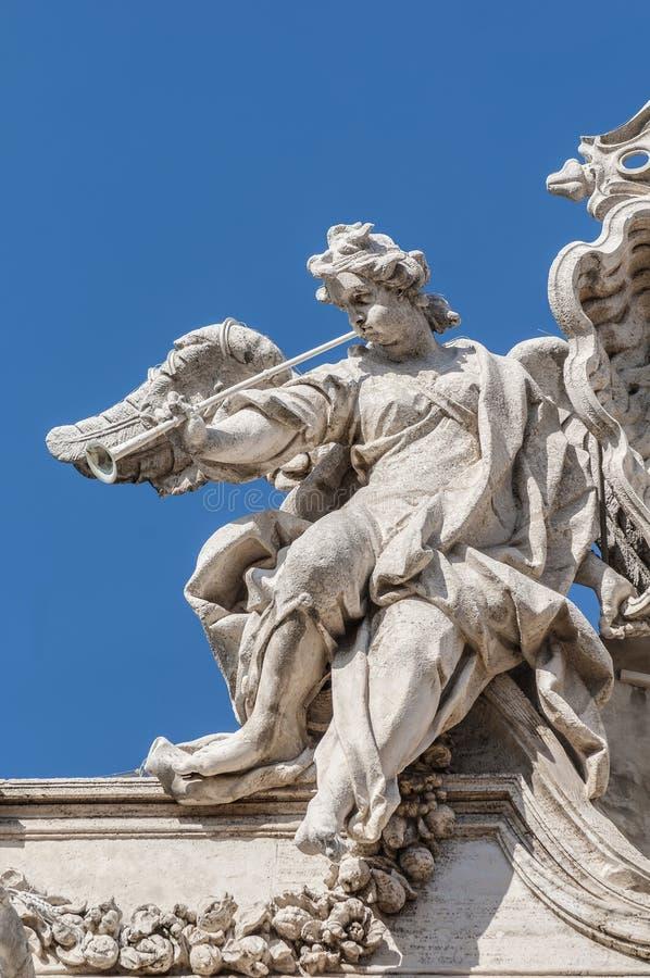 Πηγή TREVI, η μπαρόκ πηγή στη Ρώμη, Ιταλία. στοκ εικόνα