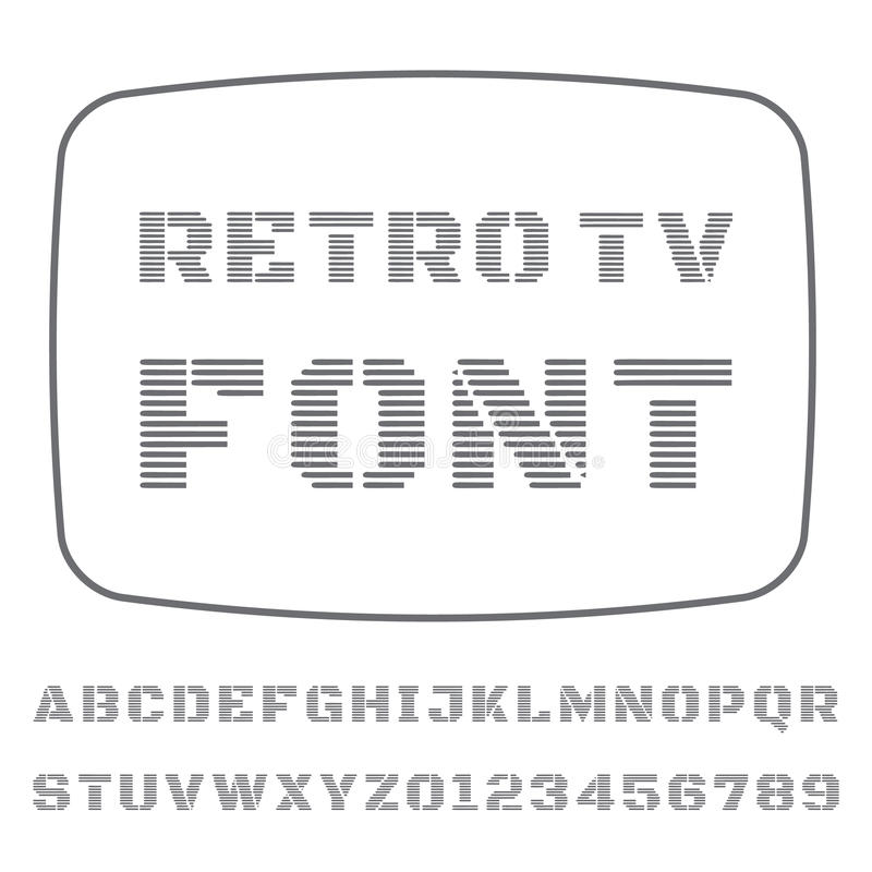Πηγή TV απεικόνιση αποθεμάτων