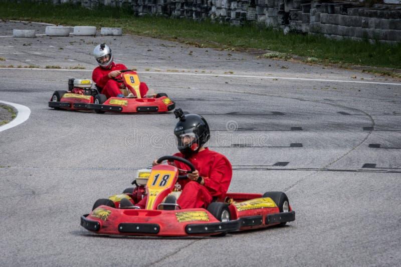 Πηγαίνετε ανταγωνισμός Kart στοκ φωτογραφίες με δικαίωμα ελεύθερης χρήσης