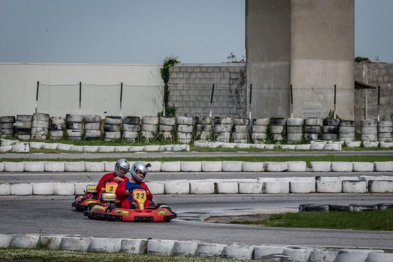 Πηγαίνετε ανταγωνισμός Kart στοκ φωτογραφίες