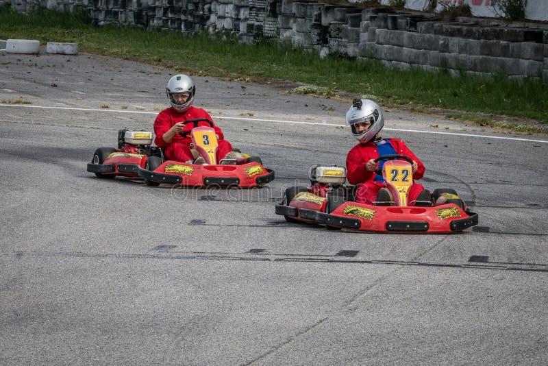 Πηγαίνετε ανταγωνισμός Kart στοκ φωτογραφία με δικαίωμα ελεύθερης χρήσης
