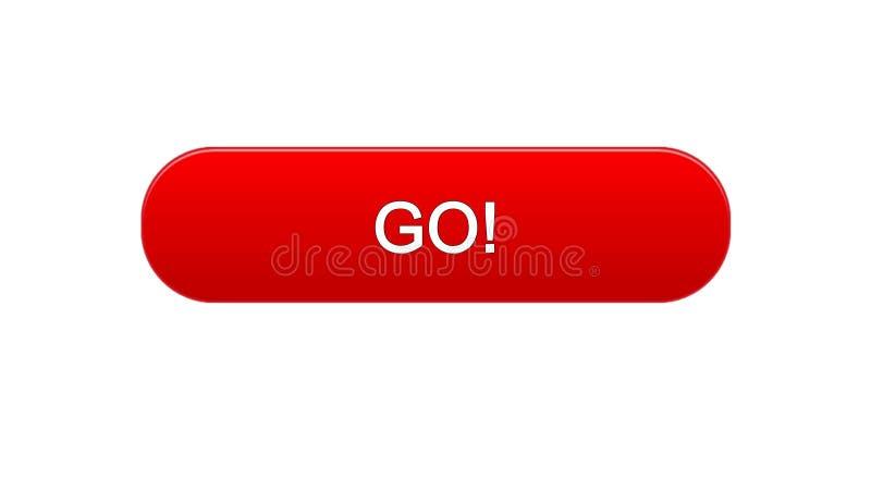 Πηγαίνετε κόκκινο χρώμα κουμπιών διεπαφών Ιστού, ανάπτυξη εκπαίδευσης, σχέδιο επιχειρησιακών περιοχών ελεύθερη απεικόνιση δικαιώματος