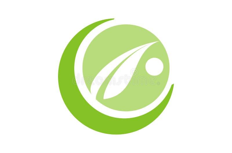 Πηγαίνετε πράσινος με το φύλλο ελεύθερη απεικόνιση δικαιώματος