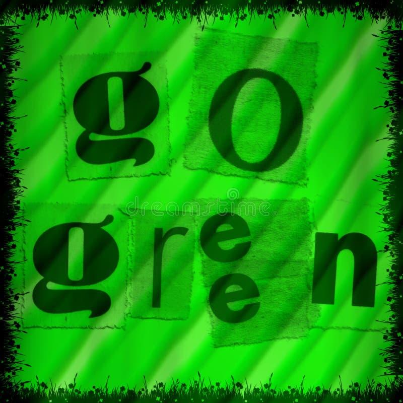 πηγαίνετε πράσινος απεικόνιση αποθεμάτων