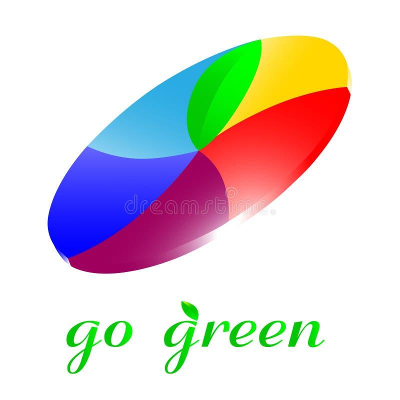 πηγαίνετε πράσινο εικονίδιο απεικόνιση αποθεμάτων