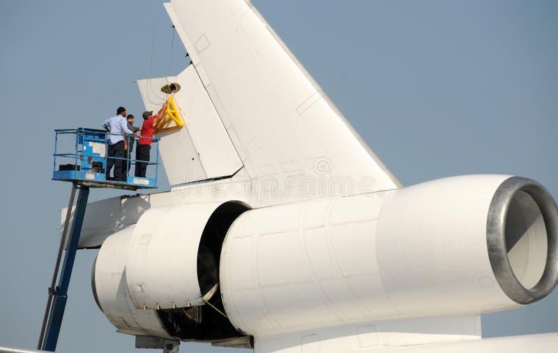 πηδάλιο αφαίρεσης αεροπ στοκ φωτογραφία
