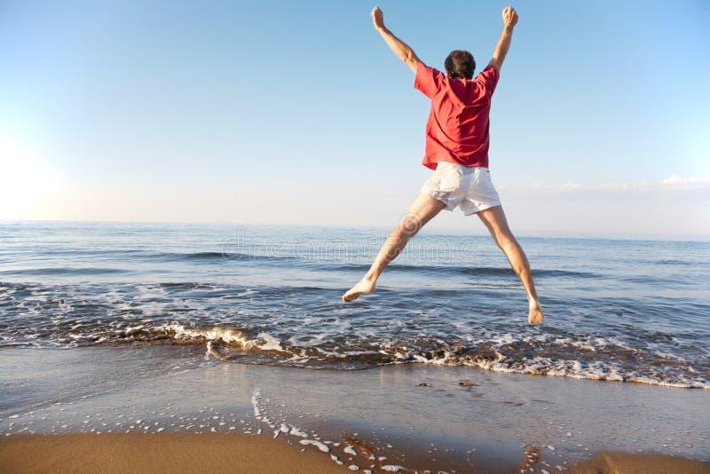 πηδώντας άτομο στοκ φωτογραφία