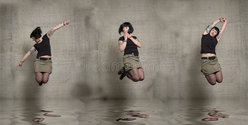 πηδώντας γυναίκα