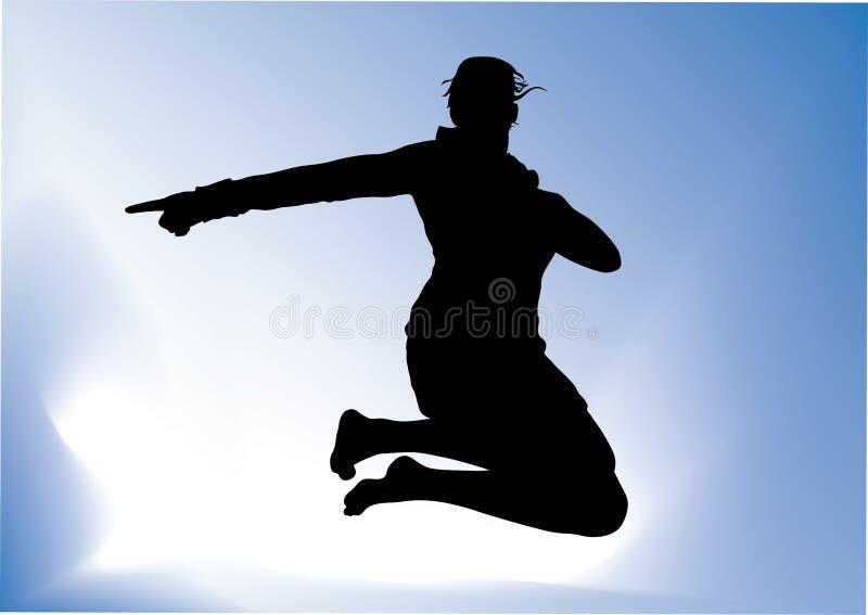 πηδώντας γυναίκα διανυσματική απεικόνιση