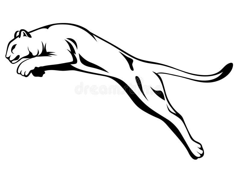 πηδώντας διάνυσμα λιοντα&rh διανυσματική απεικόνιση