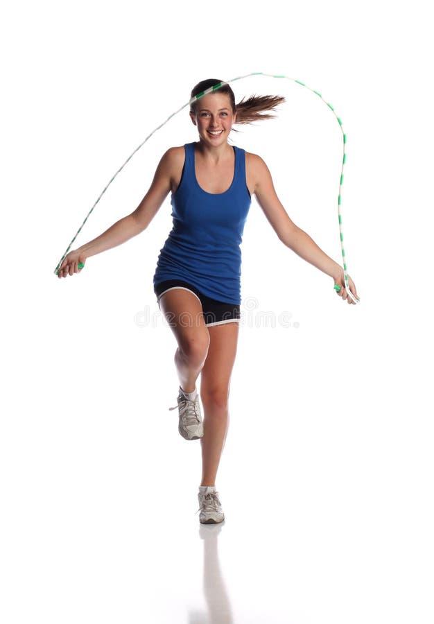 πηδώντας σχοινί στοκ φωτογραφία