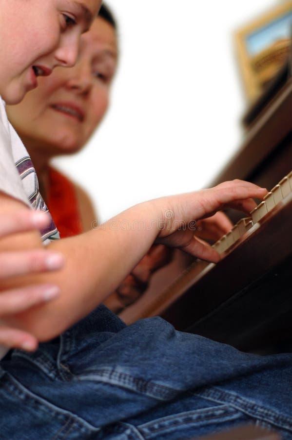 πιάνο μαθήματος στοκ φωτογραφία