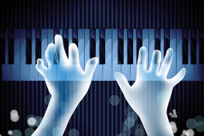 Πιάνο παιχνιδιού χεριών απεικόνιση αποθεμάτων