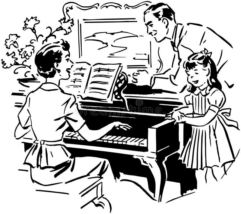 Πιάνο παιχνιδιού Mom απεικόνιση αποθεμάτων