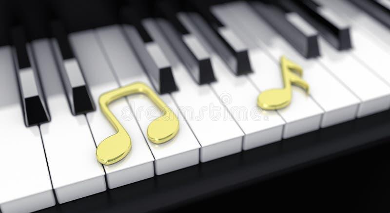 πιάνο σημειώσεων ελεύθερη απεικόνιση δικαιώματος