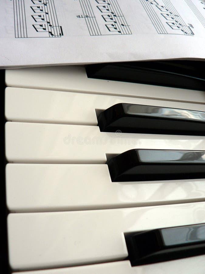 πιάνο σημειώσεων στοκ φωτογραφία με δικαίωμα ελεύθερης χρήσης