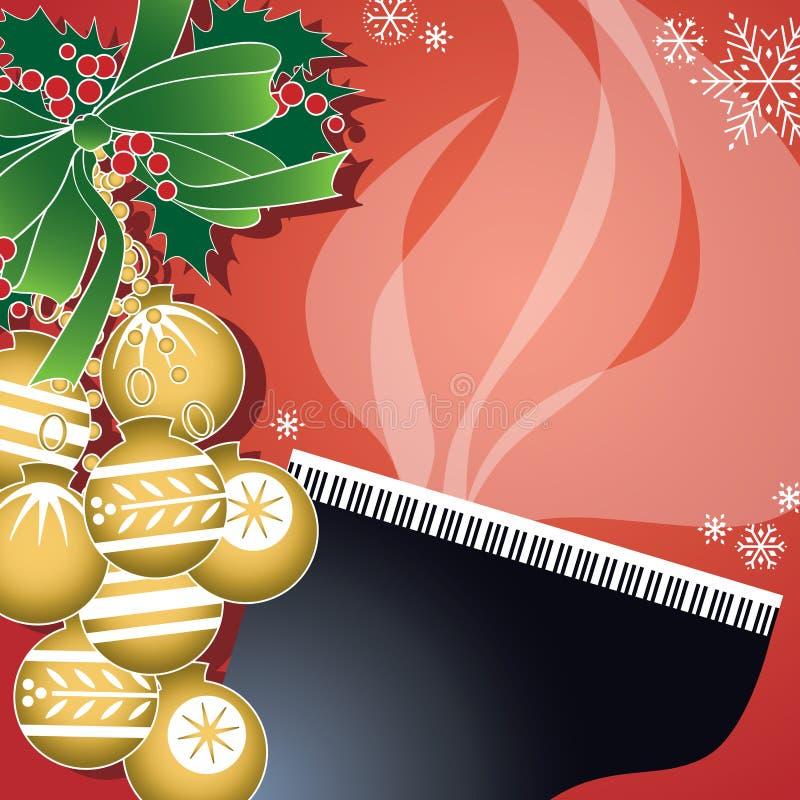 πιάνο τζαζ Χριστουγέννων διανυσματική απεικόνιση
