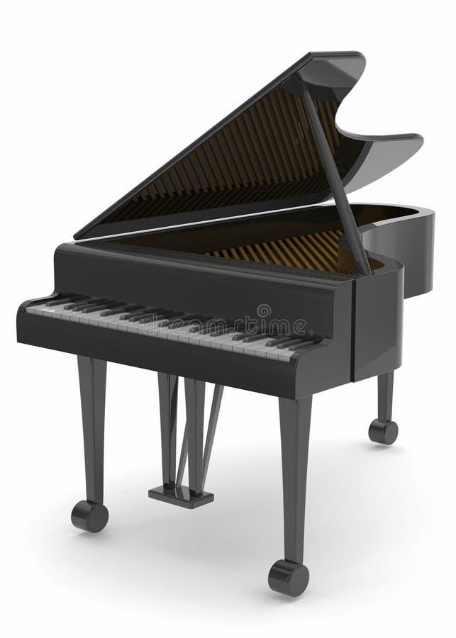 Πιάνο - τρισδιάστατο ελεύθερη απεικόνιση δικαιώματος