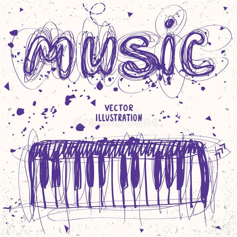 Πιάνο Doodle ελεύθερη απεικόνιση δικαιώματος