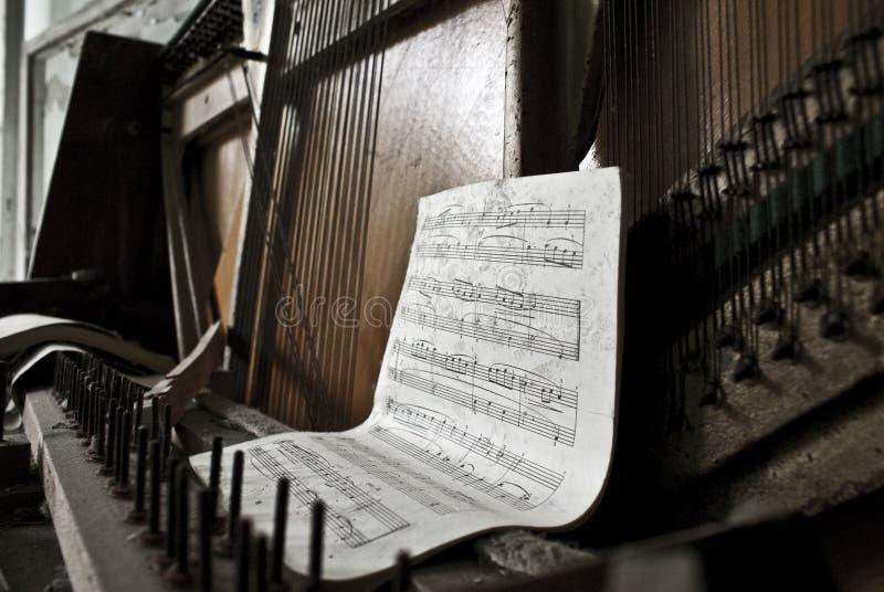 πιάνο prypiat στοκ εικόνα