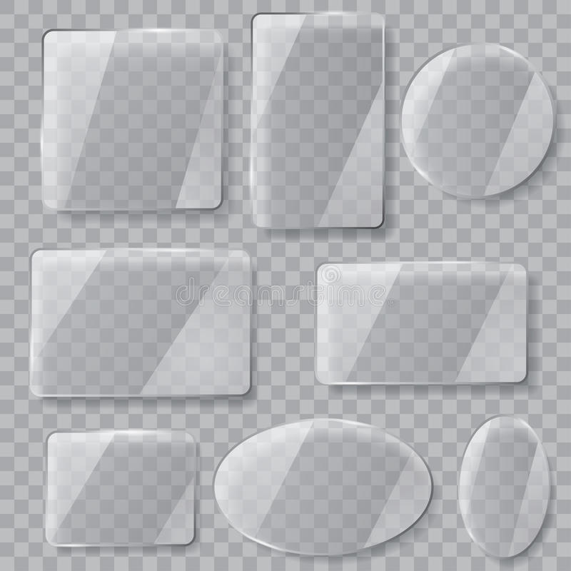 πιάτα γυαλιού διαφανή Διαφάνεια μόνο στο διανυσματικό αρχείο διανυσματική απεικόνιση