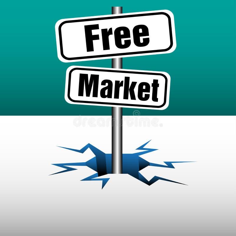 Πιάτα ελεύθερης αγοράς απεικόνιση αποθεμάτων