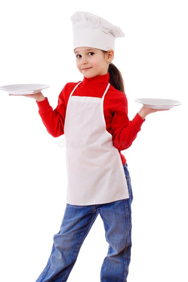 πιάτα κουζινών κενά λίγα δύο στοκ φωτογραφίες