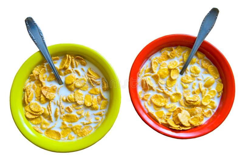 πιάτα νιφάδων καλαμποκιού στοκ εικόνα με δικαίωμα ελεύθερης χρήσης