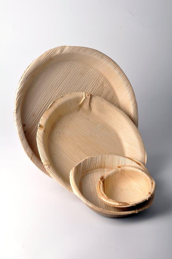 πιάτα ξύλινα στοκ εικόνα
