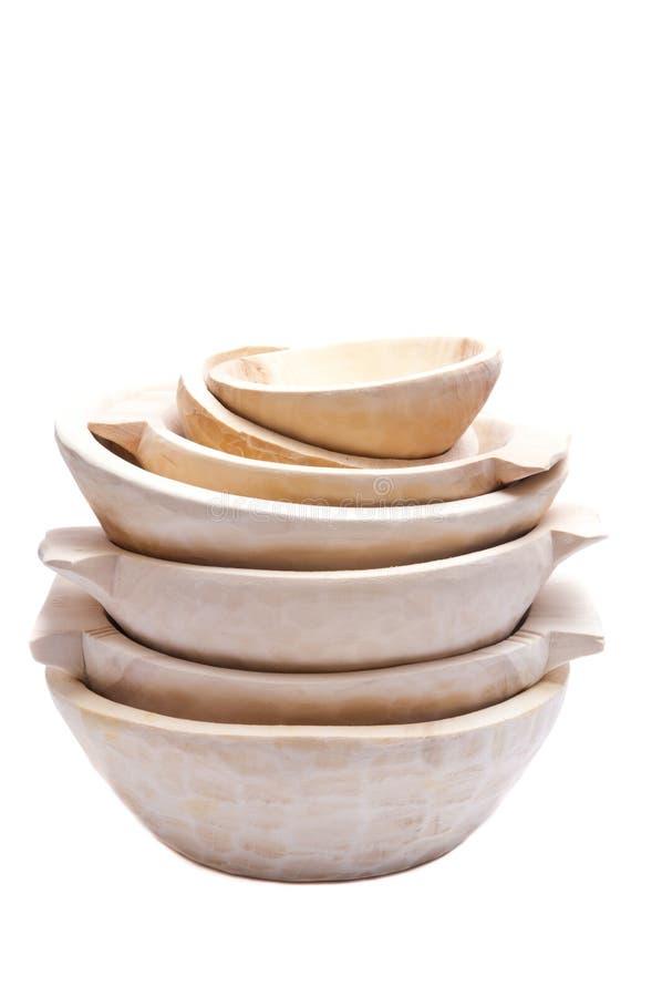 πιάτα ξύλινα στοκ εικόνα με δικαίωμα ελεύθερης χρήσης