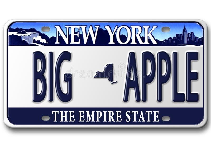 πιάτα της Νέας Υόρκης αδειών απεικόνιση αποθεμάτων