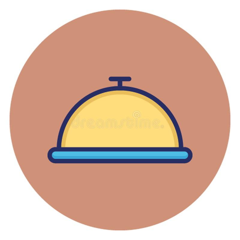 Πιάτο αρχιμαγείρων, cloche, διανυσματικό εικονίδιο που μπορεί εύκολα να εκδώσει απεικόνιση αποθεμάτων
