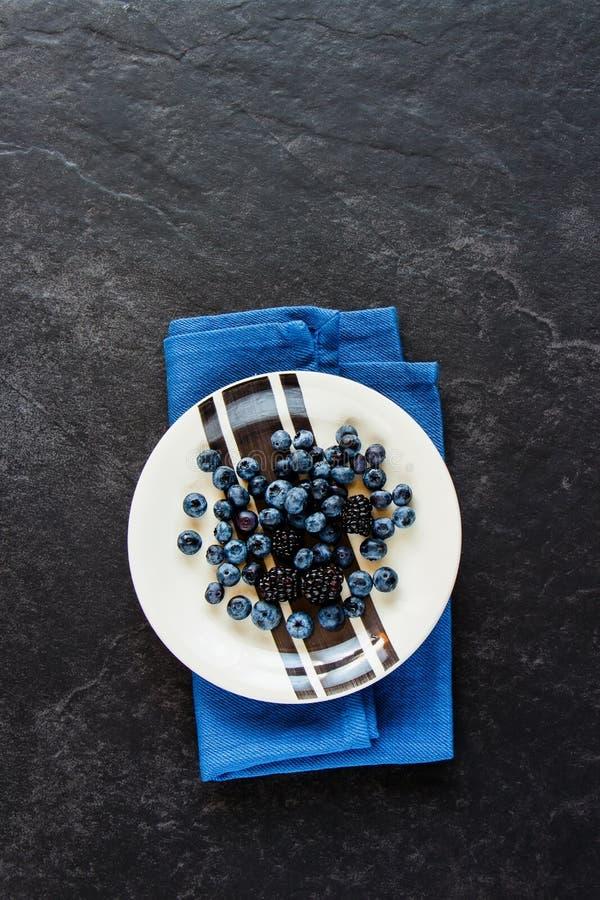 Πιάτο βακκινίων και βατόμουρων στοκ εικόνα με δικαίωμα ελεύθερης χρήσης