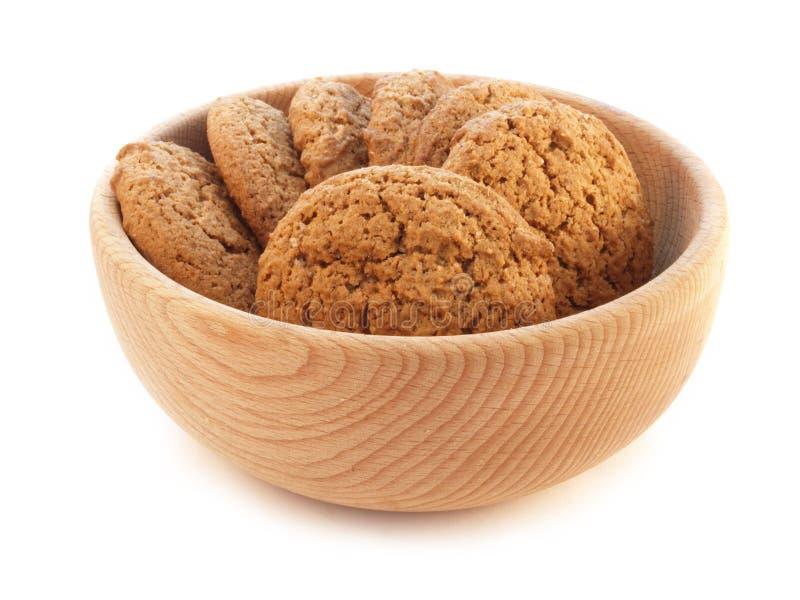 πιάτο βρωμών μπισκότων ξύλιν&omicro στοκ φωτογραφίες με δικαίωμα ελεύθερης χρήσης