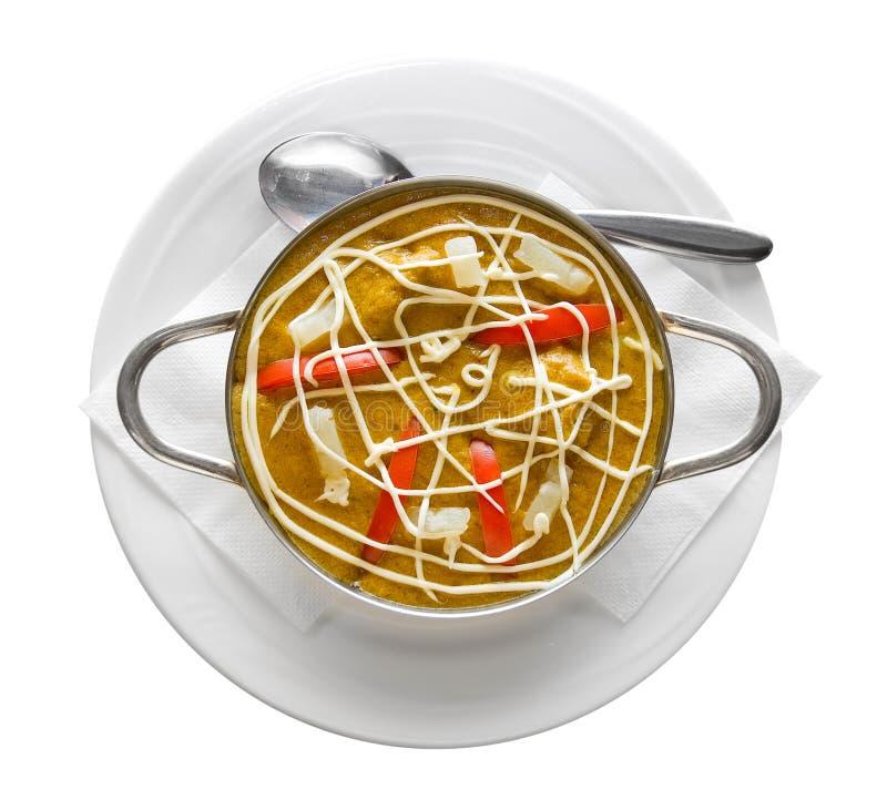 πιάτο γαστρονομικός Ινδός στοκ εικόνες