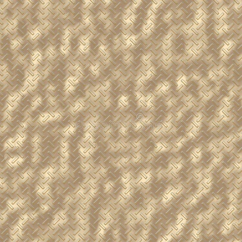 Πιάτο διαμαντιών - ράβδοι ορείχαλκου απεικόνιση αποθεμάτων