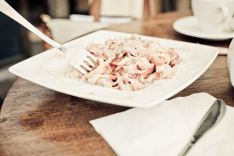 Πιάτο ζυμαρικών στοκ εικόνες