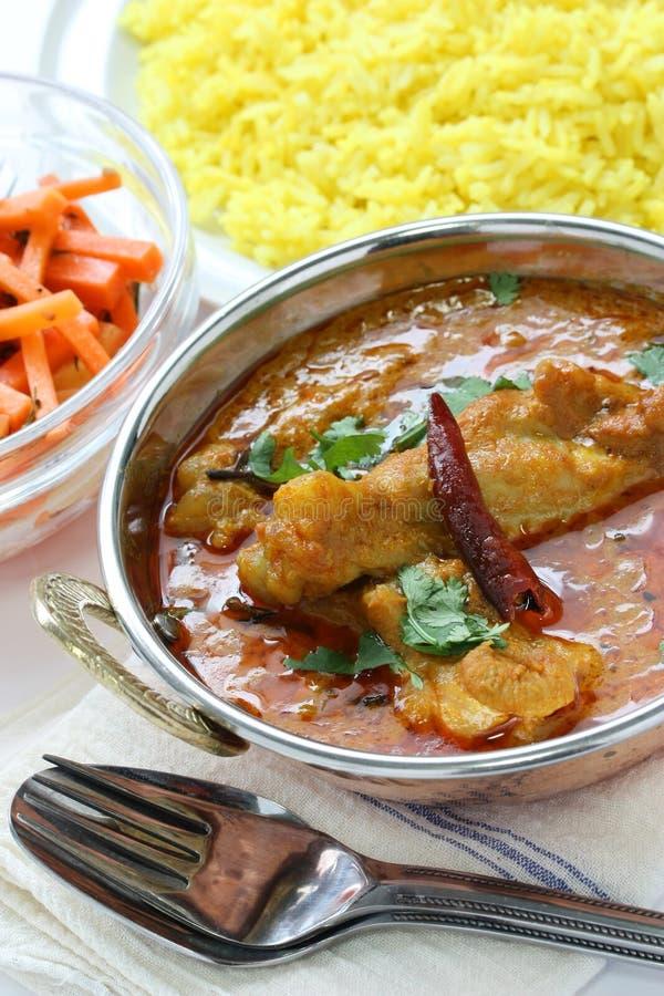 πιάτο Ινδός κάρρυ κοτόπου&lamb στοκ εικόνα με δικαίωμα ελεύθερης χρήσης