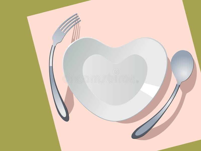 πιάτο καρδιών μορφής απεικόνιση αποθεμάτων