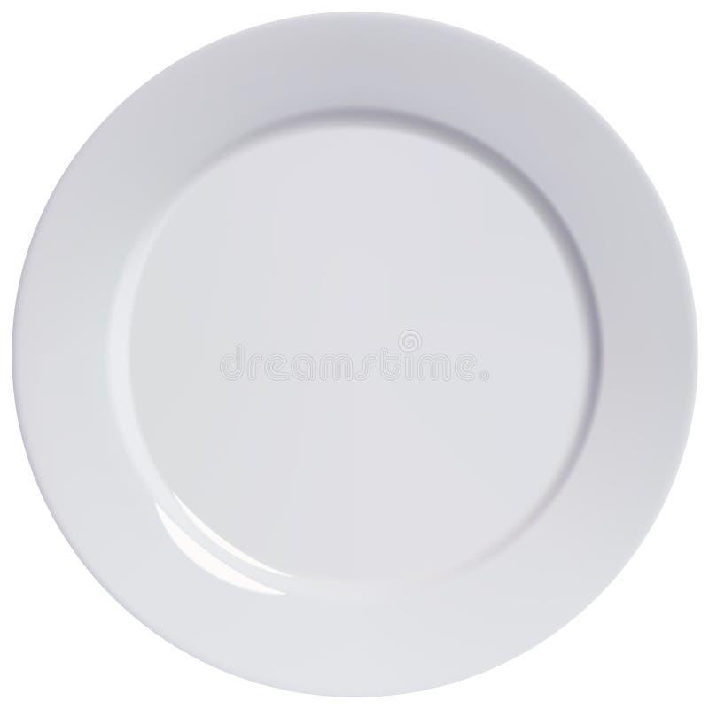 Πιάτο κενό, απομονωμένος. Διανυσματική απεικόνιση ελεύθερη απεικόνιση δικαιώματος