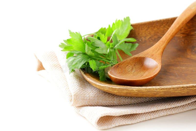 πιάτο μαχαιροπήρουνων ξύλινο στοκ φωτογραφία με δικαίωμα ελεύθερης χρήσης